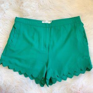 Lush High-Waisted Scalloped Shorts